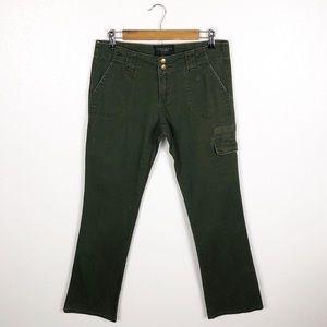 Sanctuary • Army Green Slim Bootcut Cargo Pants